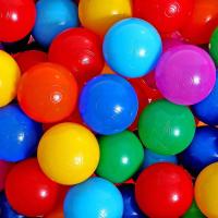 Шарики для сухого бассейна с рисунком, диаметр шара 7,5 см, набор 30 штук, разноцветные 1180348