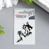 """Татуировка на тело """"Черный дракон"""" 5,3х6,3 см 1445543"""