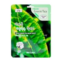 3W Clinic. Fresh Green tea Mask Sheet - Тканевая маска для лица ЗЕЛЕНЫЙ ЧАЙ