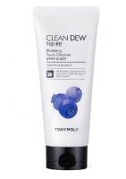 Tony Moly. Clean Dew Blueberry Foam Cleanser - Омолаживающая пенка для умывания с экстрактом черники
