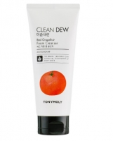 Tony Moly. Clean Dew Red Grapefruit Foam Cleanser - Увлажняющая пенка для умывания с экстрактом красного грейпфрута