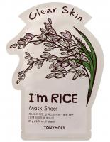 Tony Moly. I'm Real Mask Sheet Rice - Тканевая маска с Рисом