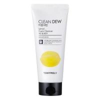 Tony Moly. Clean Dew Lemon Foam Cleanser - Осветляющая пенка для умывания с экстрактом лимона