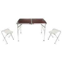 Набор туристический складной: стол, размер 90 х 60 х 70 см, 2 стула 892042