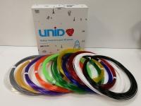Набор пластика для 3D ручек: UNID PRO-12 (по 10м. 12 цветов в коробке)