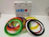 Набор пластика для 3D ручек: UNID PRO-15 (по 10м. 15 цветов в коробке) / свет