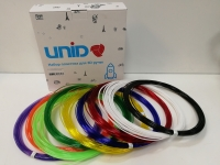 Набор пластика для 3D ручек: UNID PRO-9 (по 10м. 9 цветов в коробке)