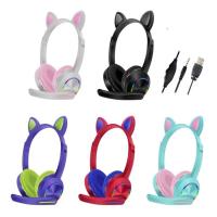 Наушники-гарнитура проводные CAT EAR HEADSET (+ микрофон) AKZ-020