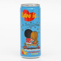 Газированный напиток Love is, с клубникой и бананом, 330 мл 6250596