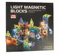 Магнитный конструктор с горками Light Magnetic blocks (75дет)