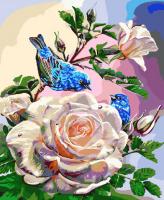 ZX 20867 Птицы на розах